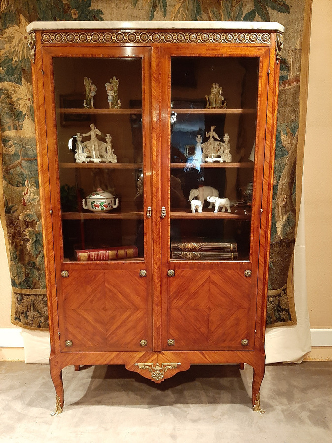 Antique FRENCH TRANSITION STYLE BOOKCASE