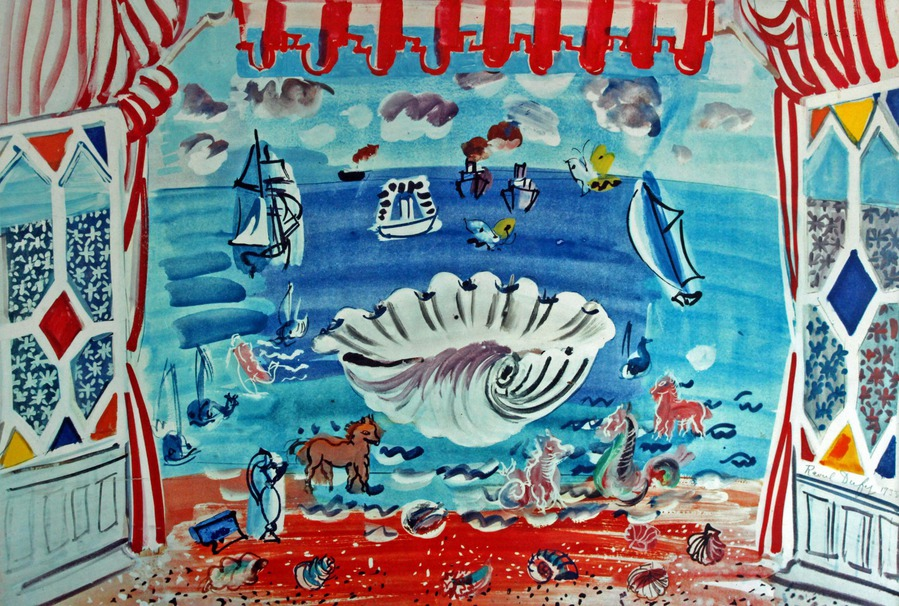 Antique LITHOGRAPHY by Raoul Dufy (1877-1953)