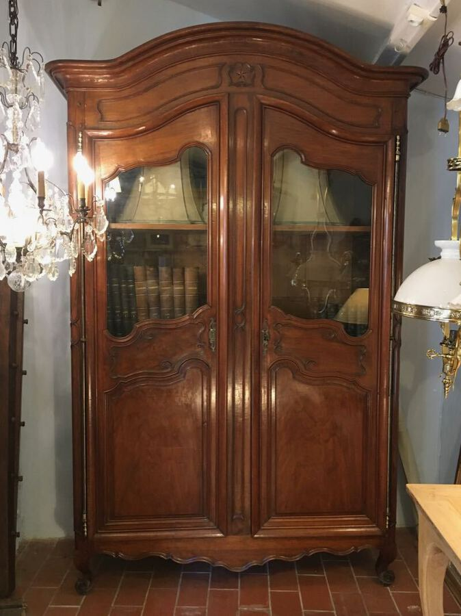 18th C WALNUT ARMOIRE LOUIS XV STYLE