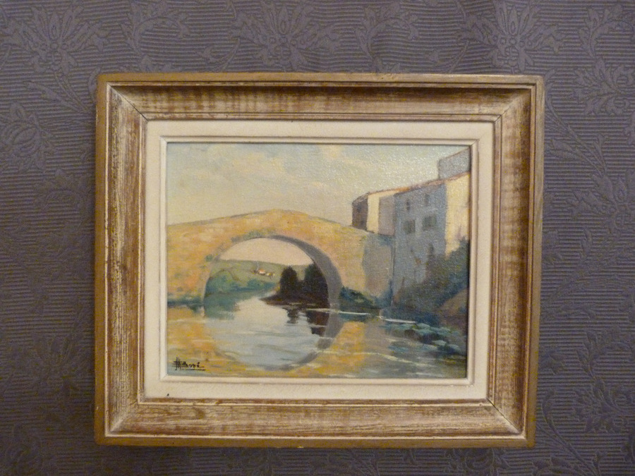 Antique OIL ON CANVAS BY M. BORE