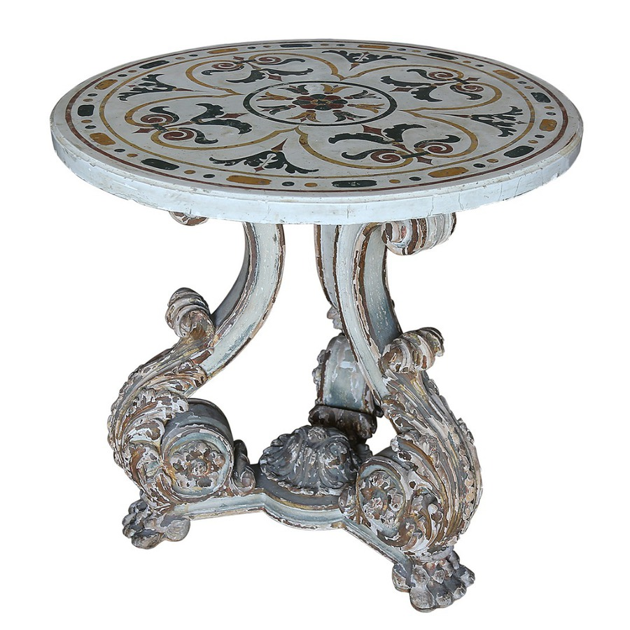 A 19th century Italian pedestal table