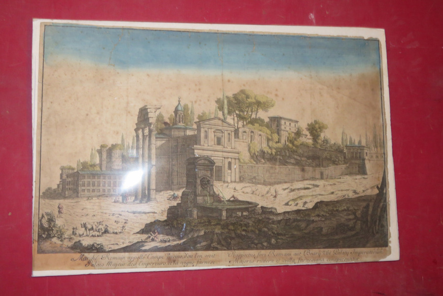 18th CENTURY OPTICAL PRINT OF ROME