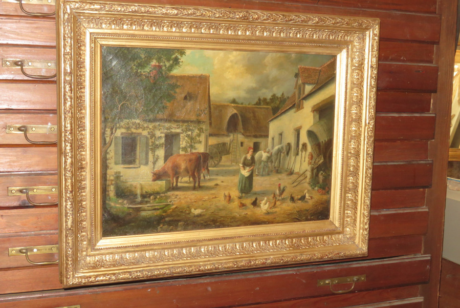 19th CENTURY OIL ON CANVAS