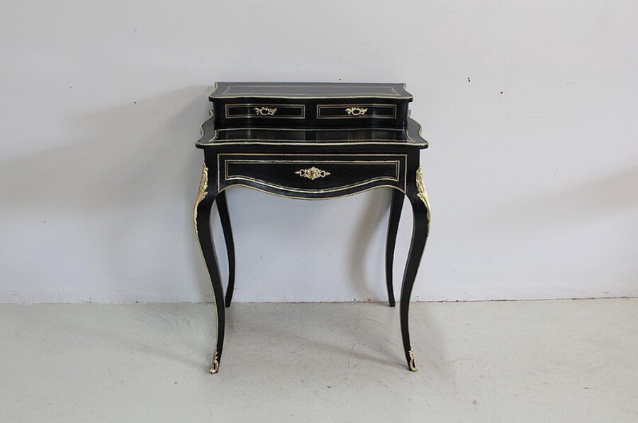 Antique Rare small office of lady Louis XV blackened wood - Napoleon III period