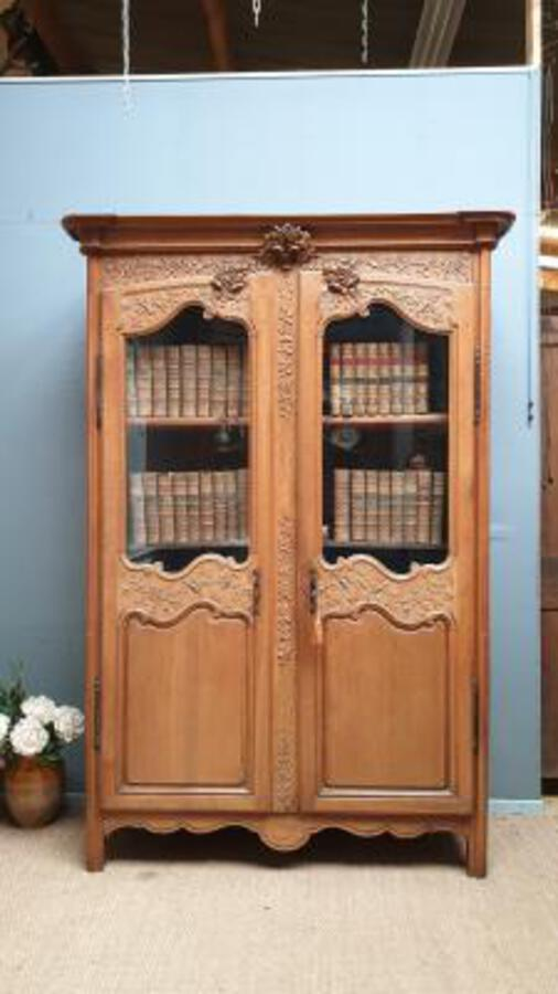 19 Cth Oak Armoire bookase