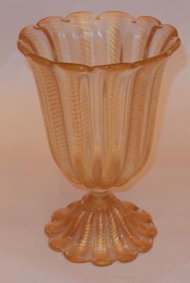 1970' Murano Foot-Shaped Vase in The Style of  Barovier i Toso