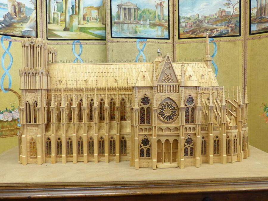 Antique MAQUETTE OF A GOTHIC CATHEDRAL