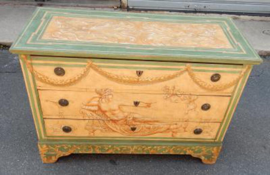 1820 'Wooden Dresser Painted Antique Deco