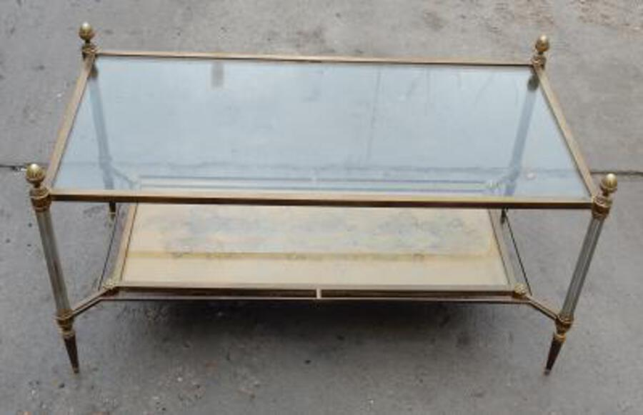 1950/70' Coffee Table Maison Jansen 93 x 49 cm