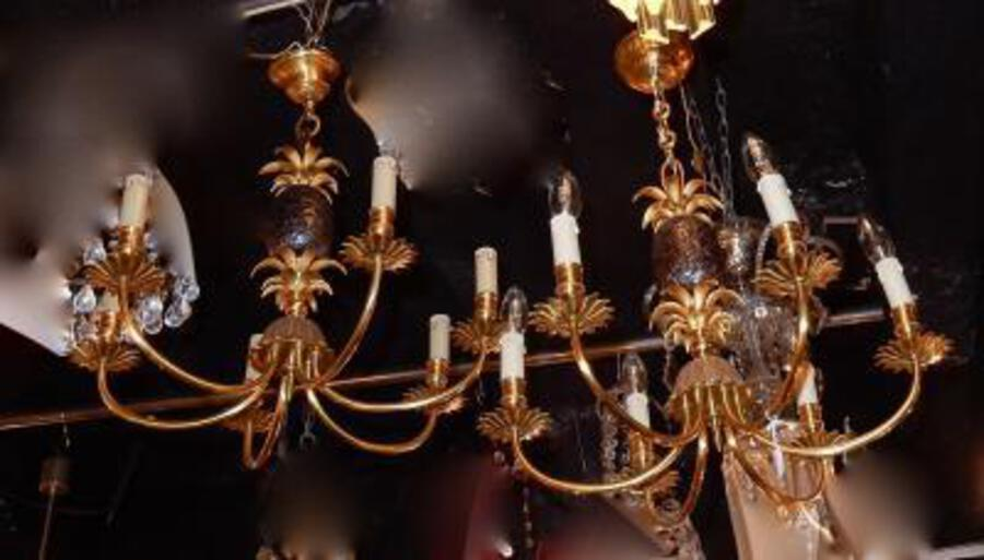 1950-1970 'Pair of Chandelier Pineapple in The Style of Maison Charles