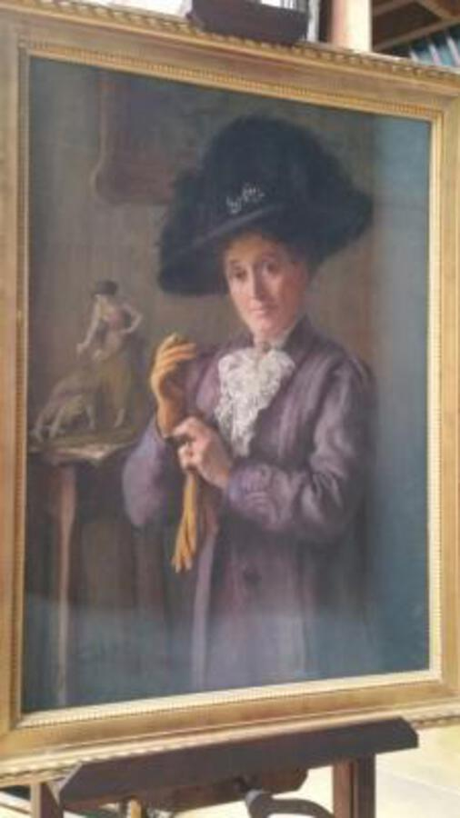Antique Portrait ;Pastel  Belle époque
