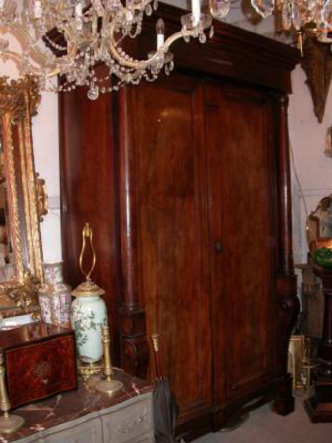 1800' Empire Cabinet with Detached columns and Crosses