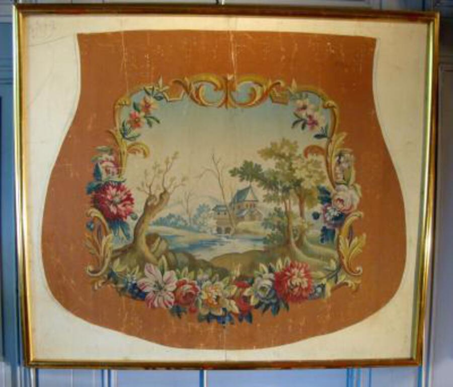 AUBUSSON TAPESTRY CARTOON