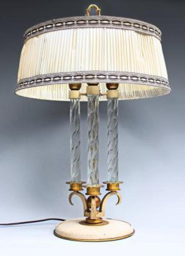 ART DECO PERIOD LAMP ATTRIBUTED TO GENET & MICHON