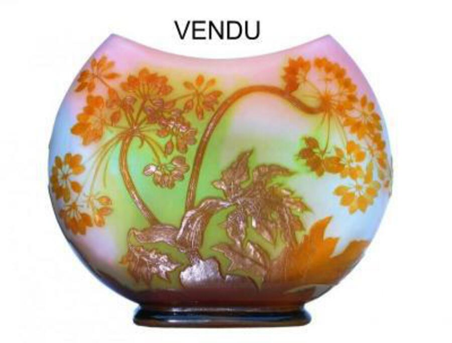 ART NOUVEAU PERIOD VASE BY EMILE GALLE