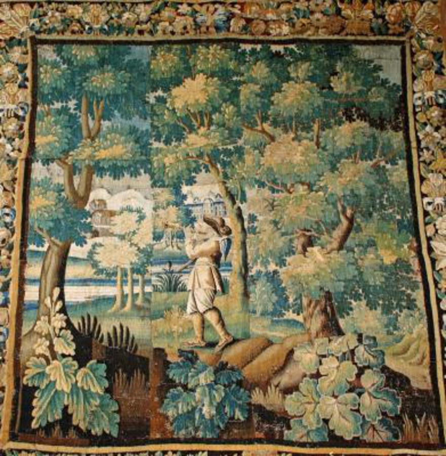 17th C AUBUSSON TAPESTRY