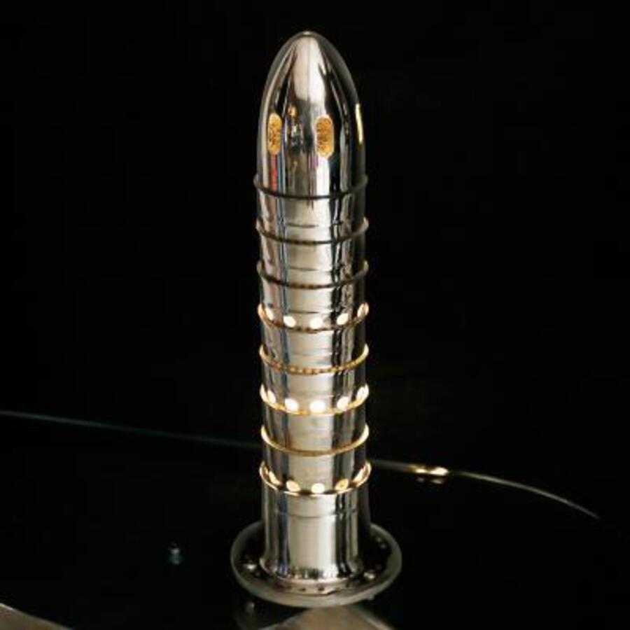 A Stylish Lamp made up from the combustion chamber of a Jet Engine