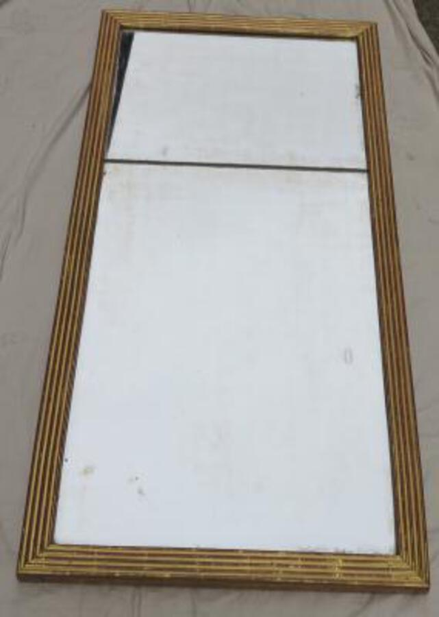 18 th Mirror has flat and gilded channels, mirror Mercury 142 X 70 cm