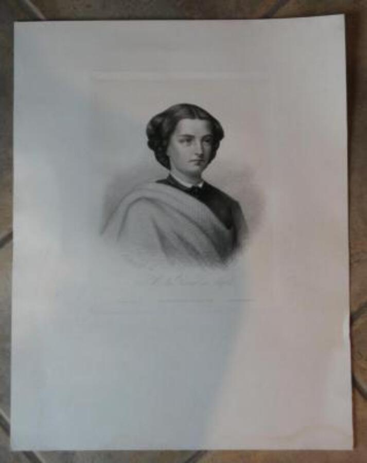 19th C ETCHING OF THE QUEEN OF NAPLES