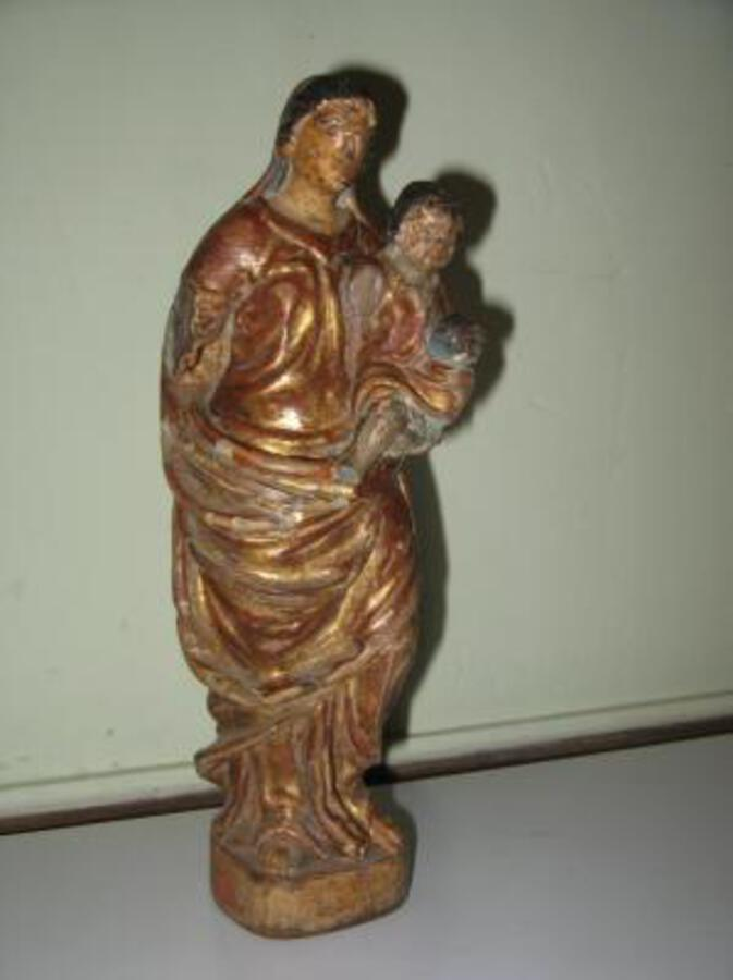 18th C CARVED WOOD STATUE