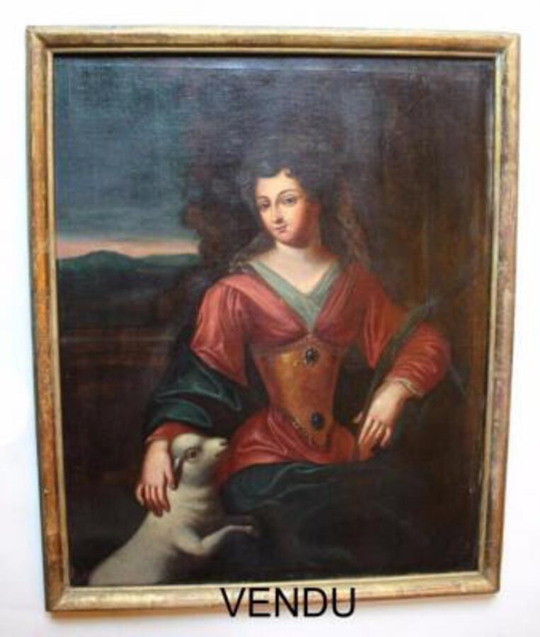 17th C OIL ON CANVAS ATTRIBUTED TO HENRI BEAUBRUN
