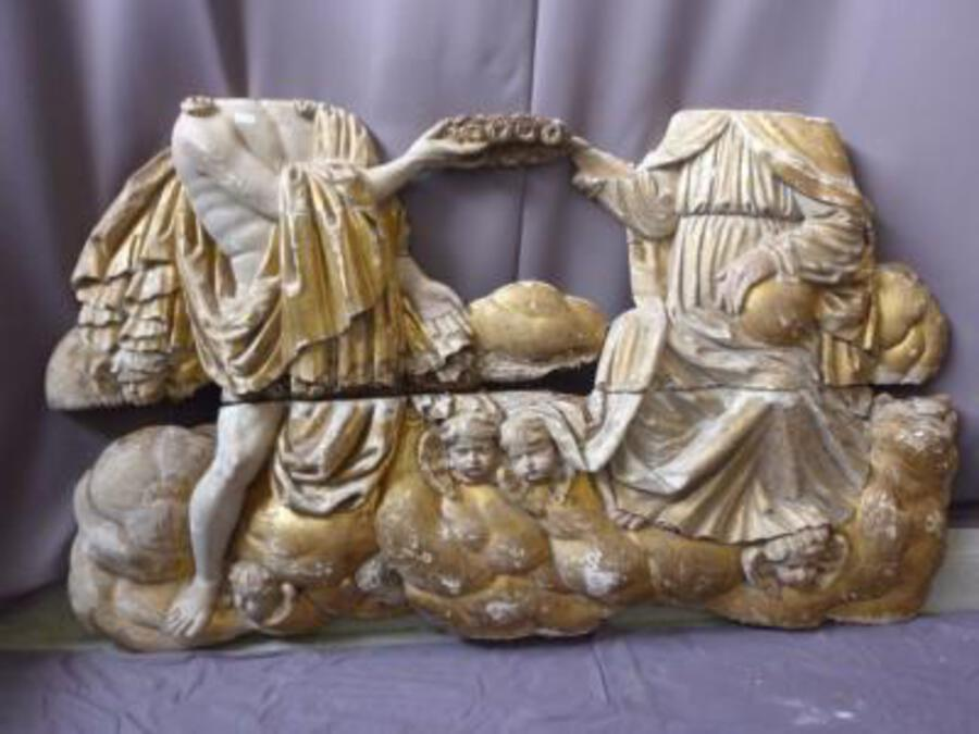 Antique CARVED GILTWOOD