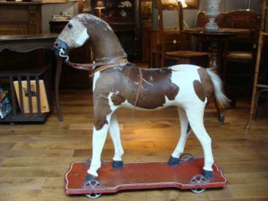 19th C HORSE ON WHEELS
