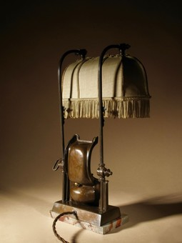 Antique A Very Decorative And Rare Original Art Deco Table Lamp.