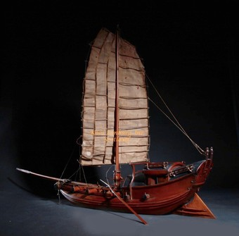 Antique A very interesting international collection of eight ship/raft models. Circa: 1920