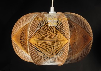Antique A very decorative and stylish art hanging light made as a sculpture in the style of Naum Gabo. 1960