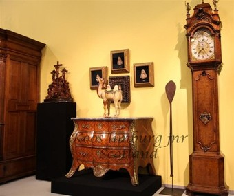 Antique Chest of Drawers and Longcase Clock Sculpture oceanic Chinese Tang