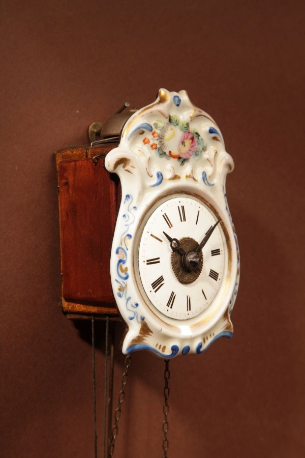 Antique A Rare Black Forest Miniature Jockele Wall Clock, Circa 1860.