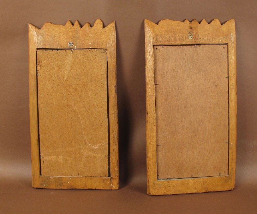Antique Two Very Decorative And Interesting Mirrors, Oriental, circa 1960
