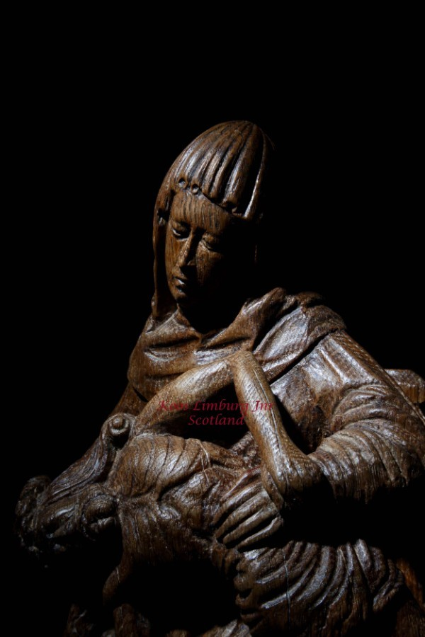 An expressive and very impressive beautiful Medieval Gothic carved oak Pieta sculpture Gelre circa 1500-1520