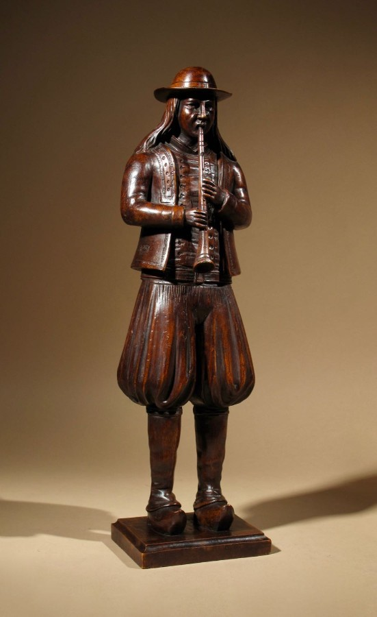 A French Folklore Very Finely Carved Figure Of A Musician Of The Provence.