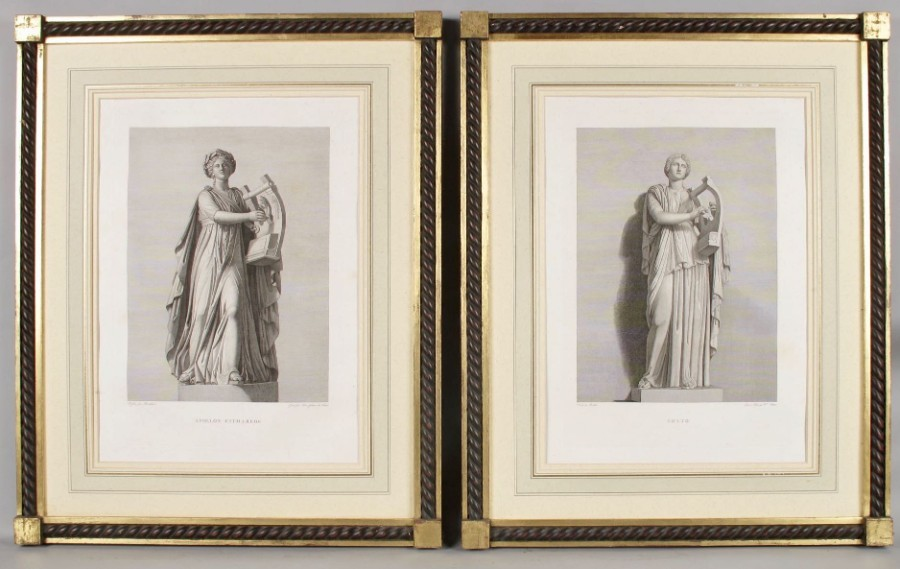 """Le Grand Tour""  Classical Subject Engravings,"