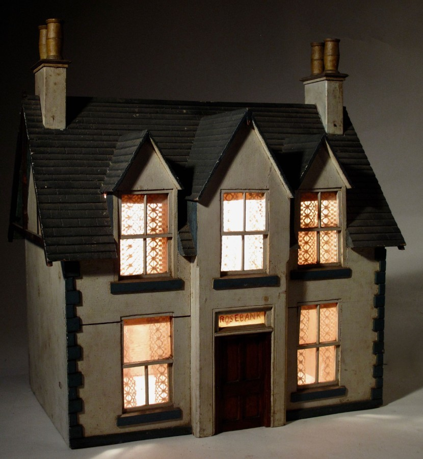 A rare and very decorative not restored model house.