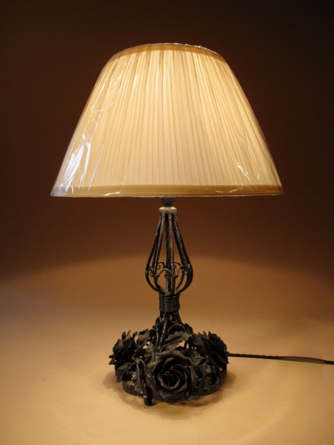 A Very Decorative Wrought Iron Table Lamp circa 1920