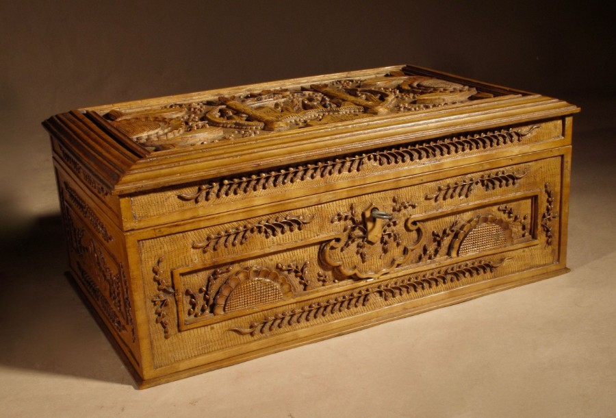 A very fine carved type of sandalwood wooden box.