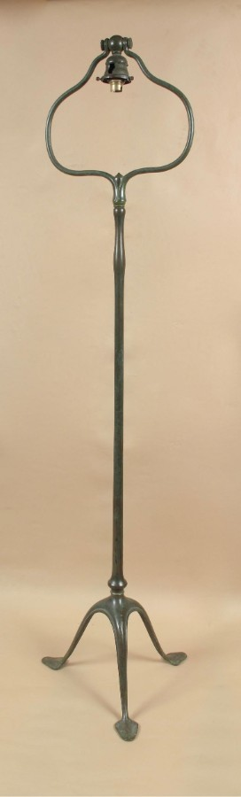 An original Tiffany studios stamped floor standing lamp. Number:423 circa 1920