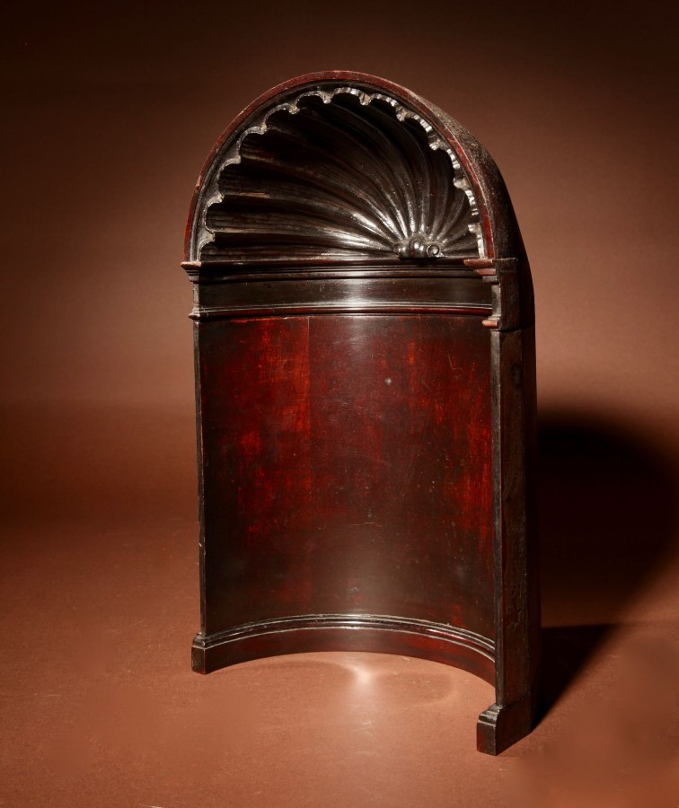 Antique  Mahogany Architectural Model Of An Alcove, In the Thomas Chippendale Style.