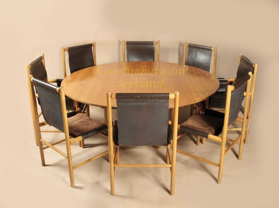 John Makepeace Maple Wood Dining Room Suite 1970s