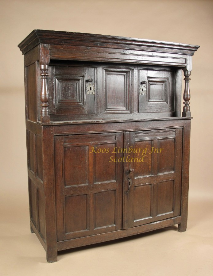 A Beautiful Welsh Oak Press Cupboard, circa: 1620 / 50