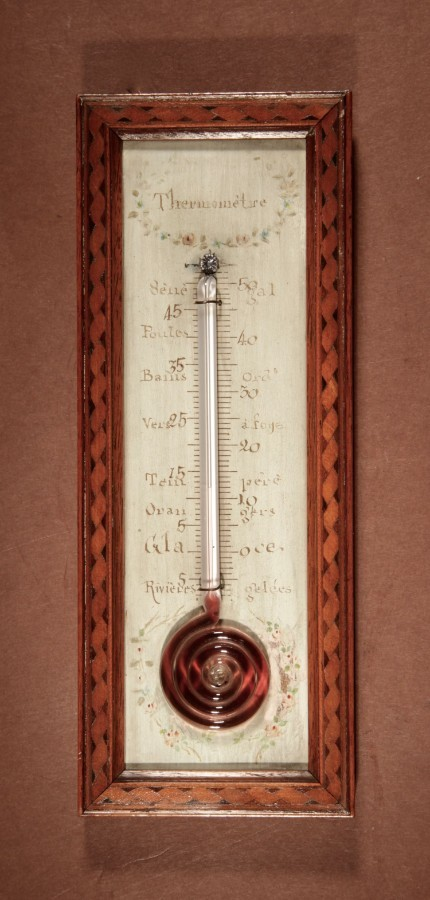 Thermometer A Very decorative And Nice Small French Thermometer circa 1850.