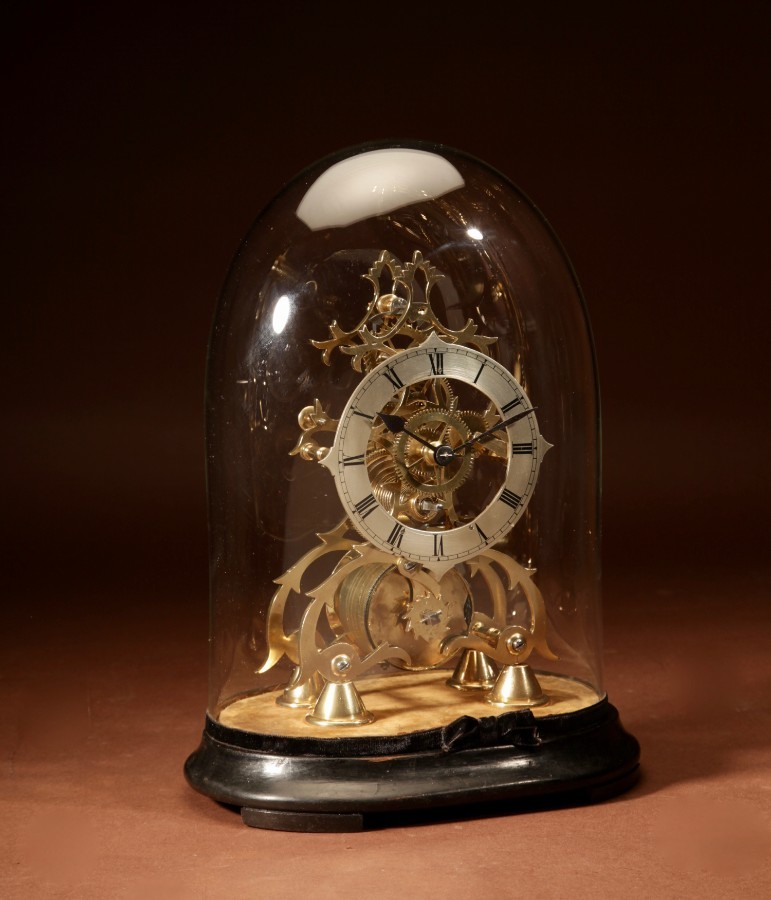 A Decorative English Skeleton Clock Circa 1850-1870.