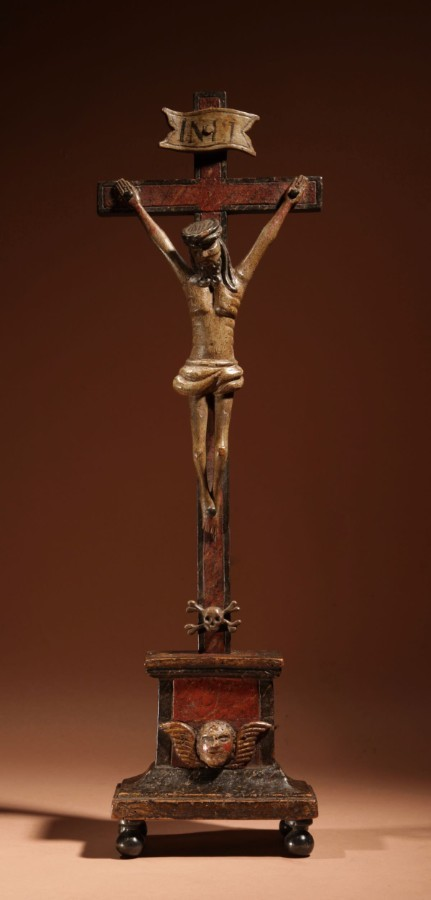 A Folk Art Crucifix Corpus Christi Southern Germany/Austria