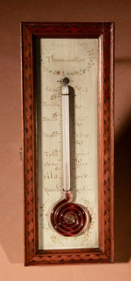 A Very decorative And Nice Small French Thermometer circa 1850