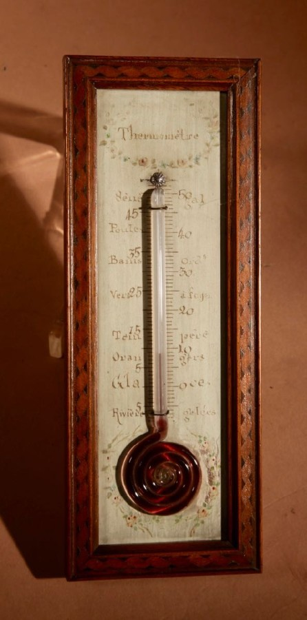 Antique A Very decorative And Nice Small French Thermometer circa 1850