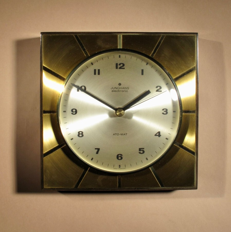 A stylish Design Junghans Ato-Mat Wall Clock.