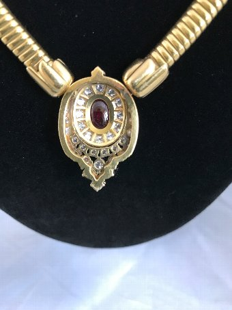 Antique 18 Carat Gold Tubogaz Necklace